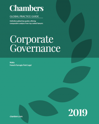 ARQ's partner legal firm, FFF, contributed to the 2019 Malta Chapter on Corporate Governance
