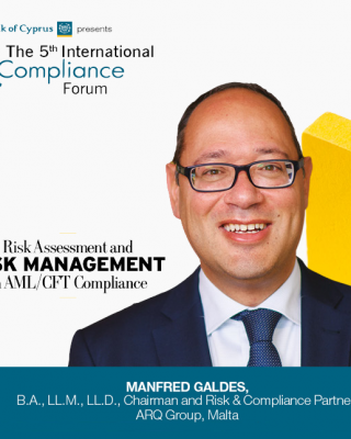 Managing Partner, Manfred Galdes will be sharing his extensive knowledge at the International Compliance Forum in Cyprus
