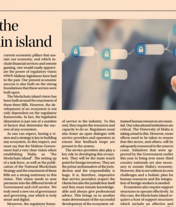 Building the Blockchain Island